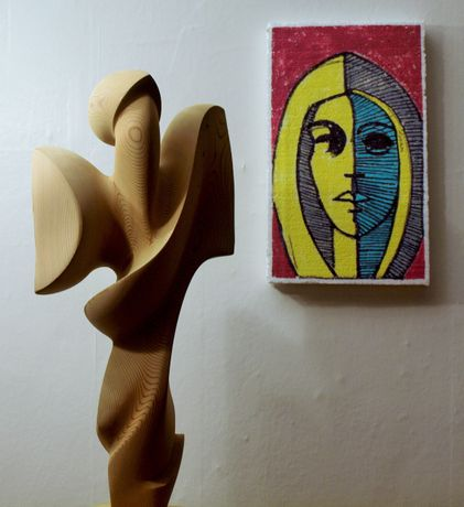 Sculpture and Drawing by Miles Bodimeade