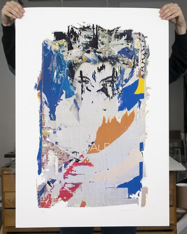 Face II 100x70cm, CMYK screenprint on paper