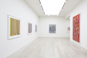 Installation view of 'Ian Davenport: Chromatic' at Cristea Roberts Gallery, London. Photo: Maxwell Anderson