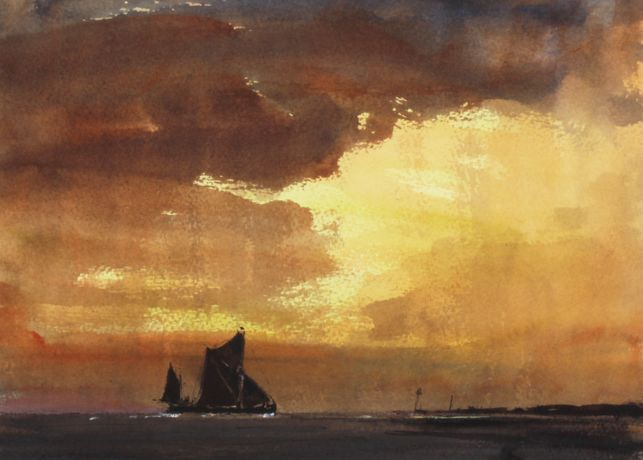 Sailing Barge Under a Stormy Sky