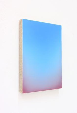 Eric Cruikshank. Untitled 14 (side view), 2020, Oil on Linen over Board, 30cm x 23cm.