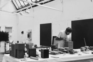 Idris Khan in his London studio, 2017