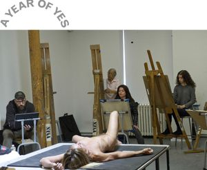 Iggy Pop Life Class by Jeremy Deller. Organized by the Brooklyn Museum, February 21, 2016. (Photo: Elena Olivo, © Brooklyn Museum)
