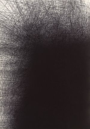 Il Lee, Untitled 9627, 1996, ballpoint ink on paper, 42 x 29 3/4 inches