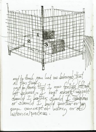 Christopher Cozier, Sketch for and to think you had me believing that all this time, 2002, in the frame of Terrastories Project. Courtesy of the artist