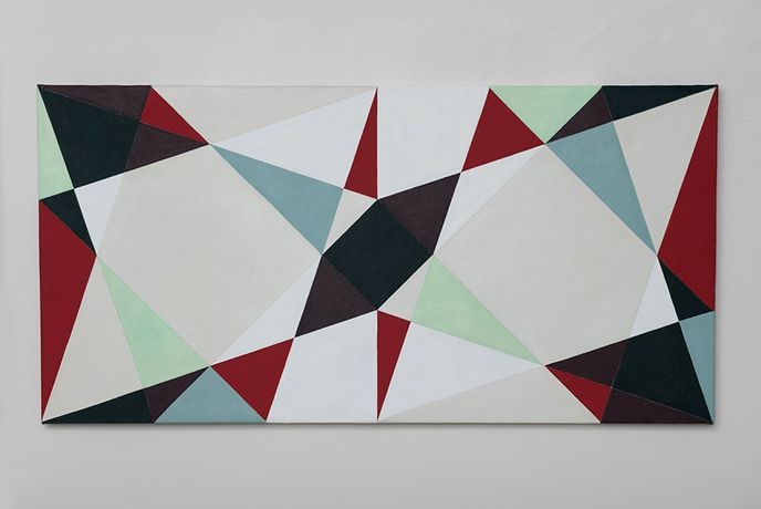 Natalie Dower, Three Triangles Series 2, 2016, oil on canvas, Courtesy Eagle Gallery / EMH Arts, London.