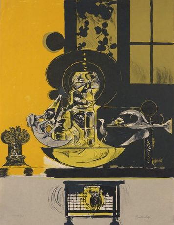Graham Sutherland, Tower of Birds, 1975, lithograph. Copyright artist