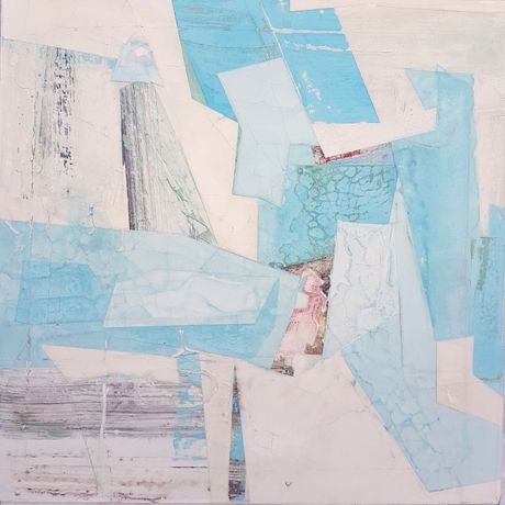 'Intonacco', Edgcombe, Mixed Media on Canvas, 60 x 60 cm
