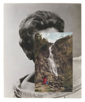 JOHN STEZAKER; Mask LXXIX, 2007, collage, Courtesy of The Approach, London. Photo: FXP photography.