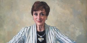 Professor Dame Carol Black (b.1939). Oil on canvas by Jeff Stultiens, 2006 (c) RCP