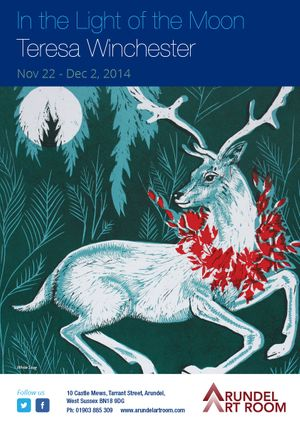 In the Light of the Moon. Exhibition of lino prints by T. Winchester from November 22 - December 2, 2014