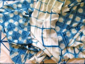 Silk Indigo Scarves
