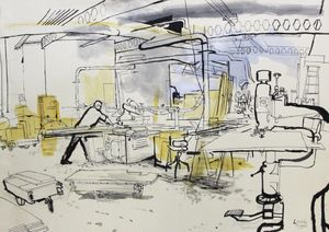 INDUSTRIOUS: Drawings of workspace in London & Somerset by Lucinda Rogers