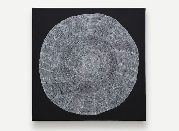 Gemma Cossey - Concentric Circles I (Continuum) Ink and acrylic on canvas