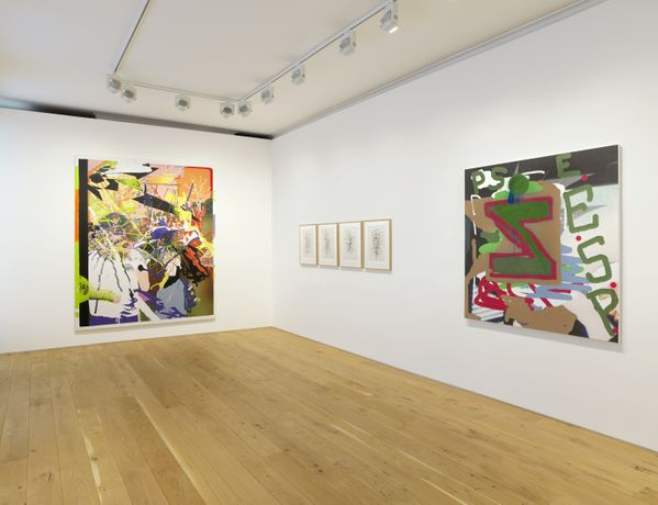Galerie Max Hetzler London, 'Input / Output: Painting After Technology', 16 April - 25 May 2019. Photo by Andrew Smart and Stuart Burford, A C Cooper (Colour) Ltd