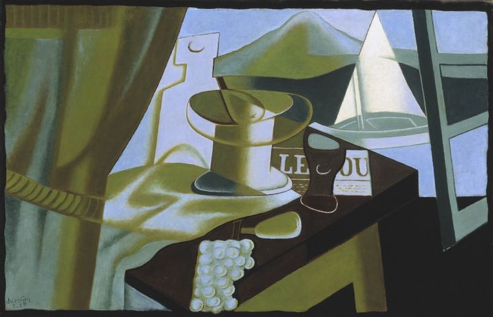 Juan Gris, Overlooking the Bay, 1921. Oil paint on canvas, 63.5 x 96.5 cm. Tate