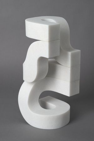 Stephen Ormandy, Twist, 2016, Marble, 16 1/2 x 7 x 7 inches