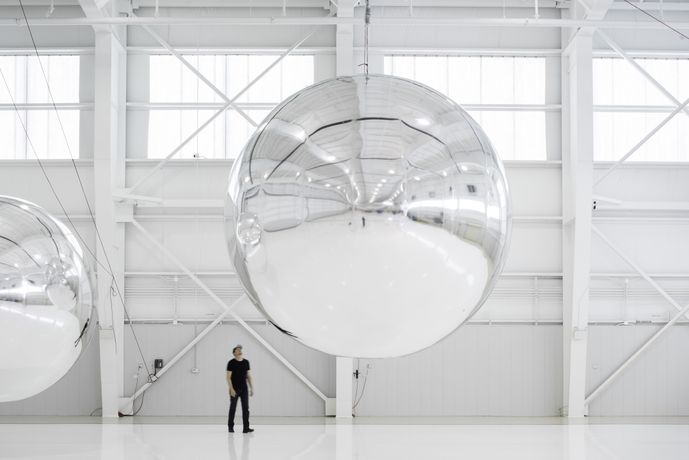 12. Prototype for a Nonfunctional Satellite (Design 4; Build 4), 2013, Mixed media, Installation view, Courtesy of Trevor Paglen Studio