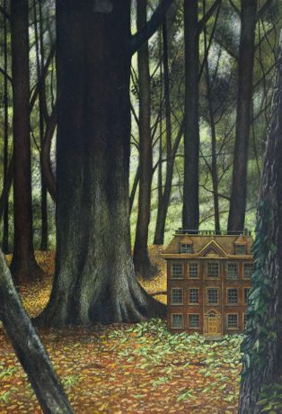 Heartbreak House by Peter Messer, egg tempera, 405 x 280mm