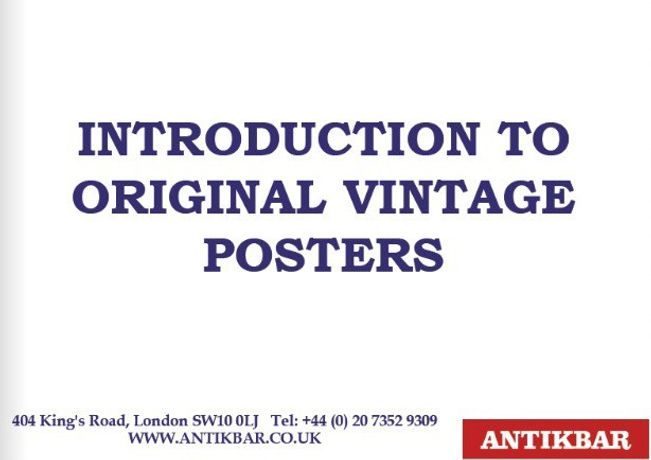 Introduction to Original Vintage Posters - AntikBar (cover)