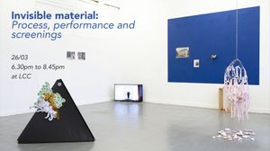 Invisible material: Process, performance and screenings