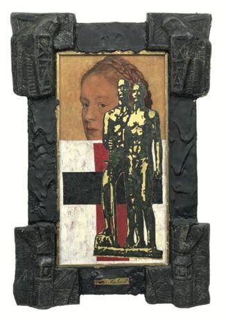 IRWIN, Malevich between Two Wars, 1984 - 86, Mixed media, 77 x 51 cm, Private collection