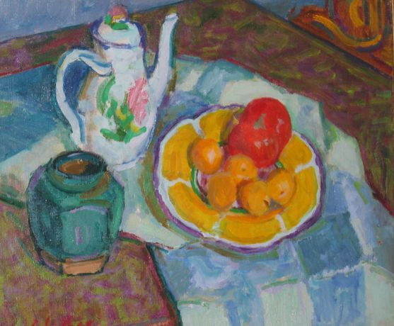 Edward Le Bas (1904-1966) Still Life with Coffee Pot undated Oil on canvas © The Estate of Edward Le Bas