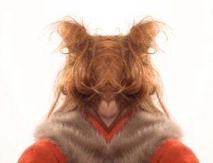 Becoming (Self Portrait with Fur Collar). Performance documentation