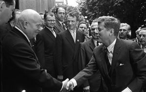 Mikhail Savin. Meeting of N. Khrushchev and J. Kennedy at the Soviet Embassy in Vienna. July 4. 1961