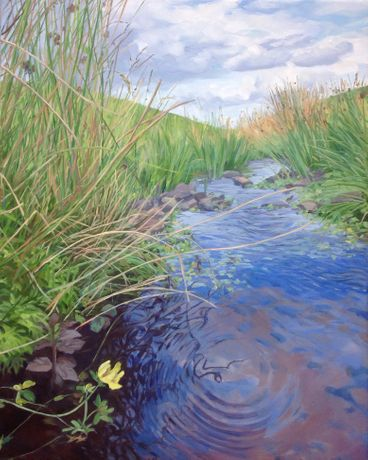 Upland River, Oil on Linen by Chris Williams