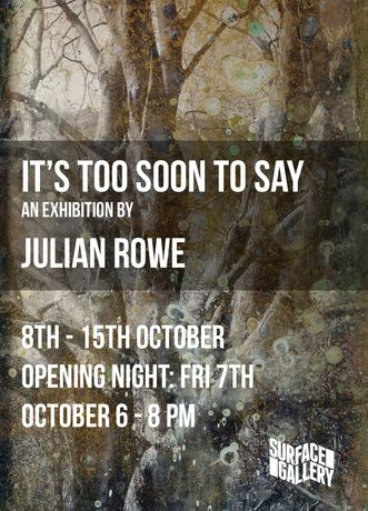 It's Too Soon To Say by Julian Rowe