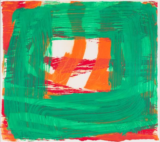 Howard Hodgkin Home, 2001 Hand-painted lift-ground etching with aquatint from 1 copper plate and carborundum from 1 plastic plate on 100% cotton paper 36.8 x 41.4 cm Edition of 50
