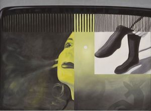 James Rosenquist, The Light That Won't Fail I, 1961 Oil on canvas 182,2 x 244,5 cm (71 3/4 x 96 1/4 in)
