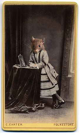Charlotte Cory, Little Miss Ratty, Photomelange - gold frame, 74.5cm x 102cm