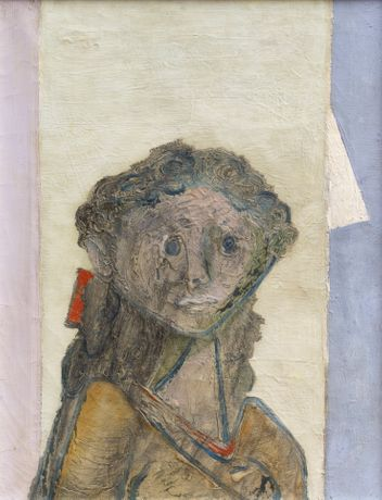Jankel Adler 'Girl's Head' (c1940) Oil on canvas