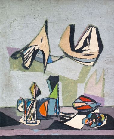 Jankel Adler 'Still Life Abstract' (c1940) Oil on Canvas