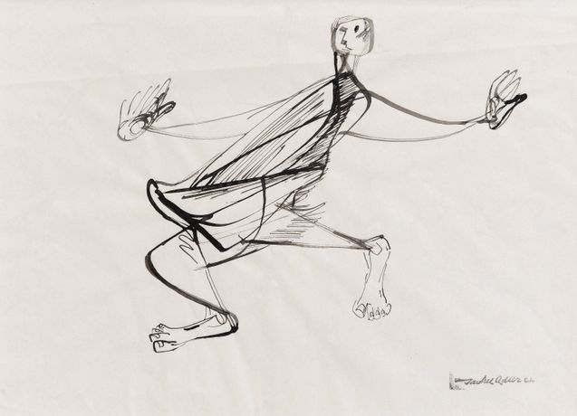 Jankel Adler 'Man Dancing' (c1940) Pen and ink