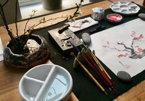 Japanese Ink Painting & Ikebana Workshop