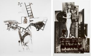 Jasper Johns / Robert Rauschenberg: Black & White