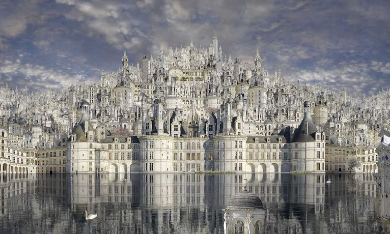 Chambord, 2016.Diasec mounted C-Type print, 58 x 98 inches.