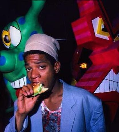 Basquiat likes his sandwiches..