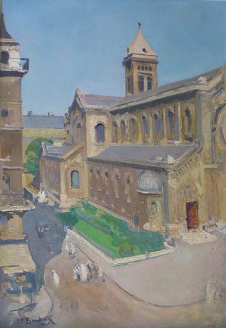 Eglise Notre Dame de Champs - oil on canvas - 115 x 80 cm
