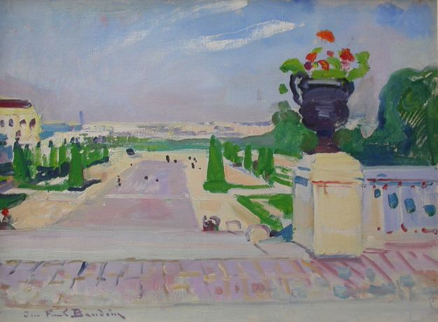 Jardin du Palaisede Chaillot, Paris - oil on canvas - 59.7 x 80 cm