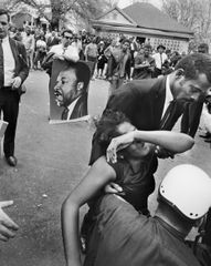 A woman faints at Martin Luther King Jr's funeral, Atlanta, GA, April 9th, 1968 Archival Pigment Print 20 x 16 in.