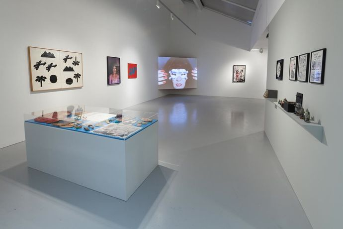 Jeff Keen: Cartoon Theatre of Dr Gaz, installation view, Kate MacGarry, London