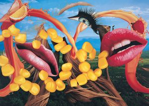 Jeff Koons Lips, 2000 (detail) Oil on canvas 120 × 168 inches (304.8 × 426.7 cm) © Jeff Koons