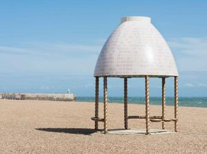Lubaina Himid, Jelly Mould Pavilion, commissioned by the Creative Foundation for Folkestone Triennial 2017. Image by Thierry Bal.