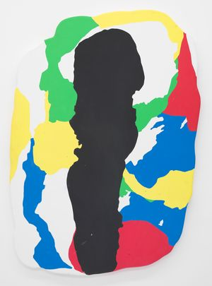 Jeremy DePrez Untitled (MMMMMMM), 2014 Acrylic and modeling paste on canvas over panel 68 x 47 inches 172.7 x 119.4 cm