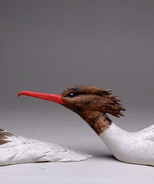 Goosander (detail) Stoneware by Jeremy James