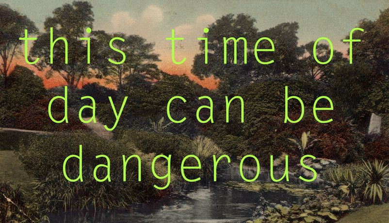Georgie Grace, this time of day can be dangerous, 2014. Courtesy the artist